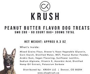 Peanut butter Dog treat label.jpg