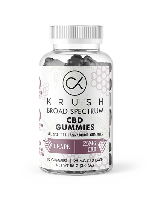 KRUSH Grape Gummies  ( 30 count )