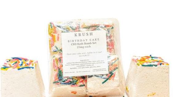 KRUSH Birthday Cake Bath Bombs