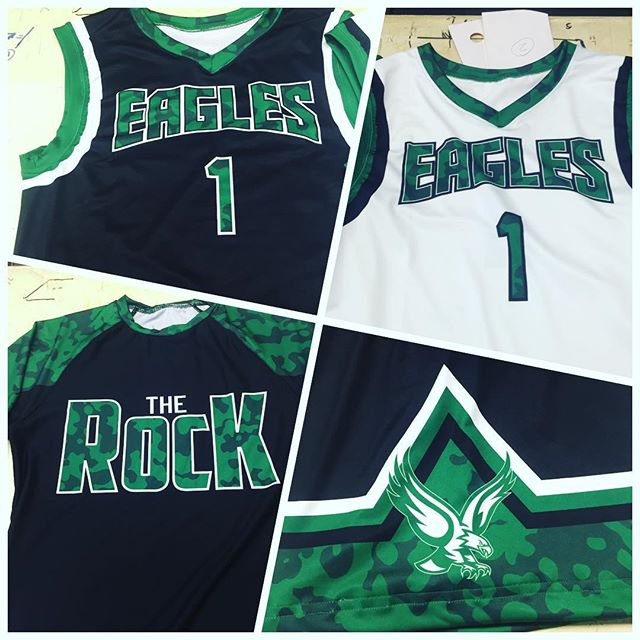 AIS hot off the press for eagle rock high school! #ais #aisathleticuniforms #uniforms #sublimation #
