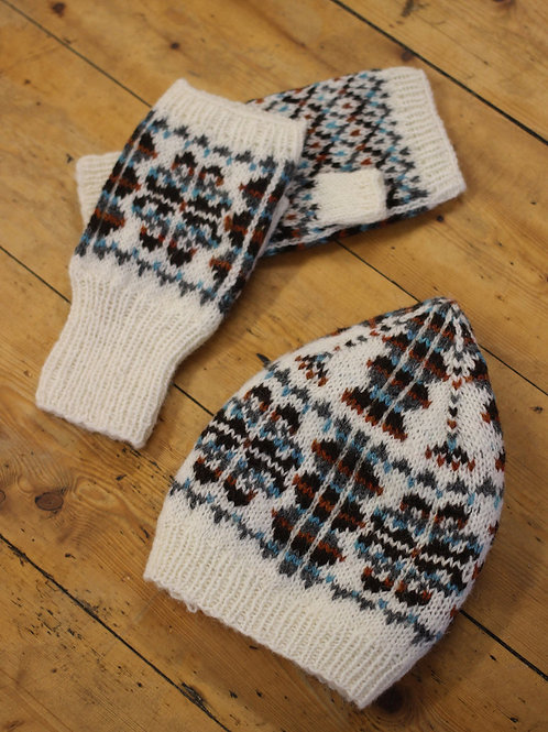 J&S Sissal Mitts and Hat 紙本織圖