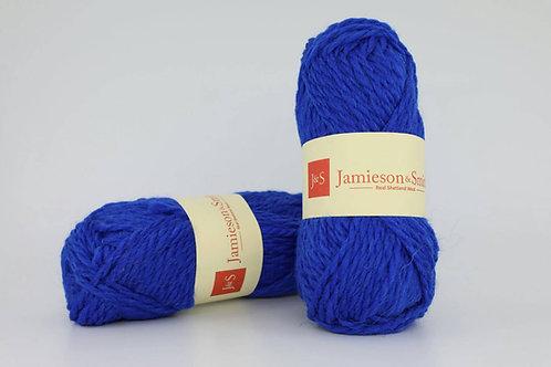 英國毛線J&S Shetland Aran Worsted_Saxon Blue(薩克遜藍)
