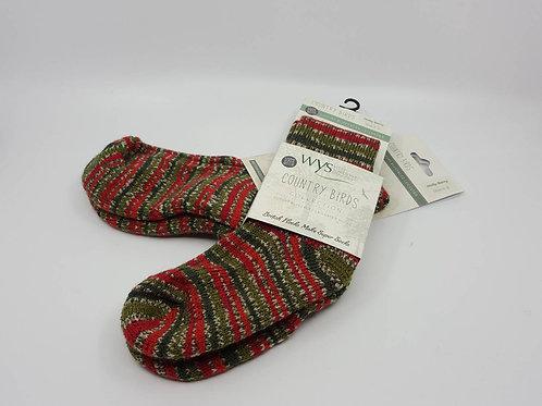 英國WYS_Wool Socks羊毛襪(Holly Berry)