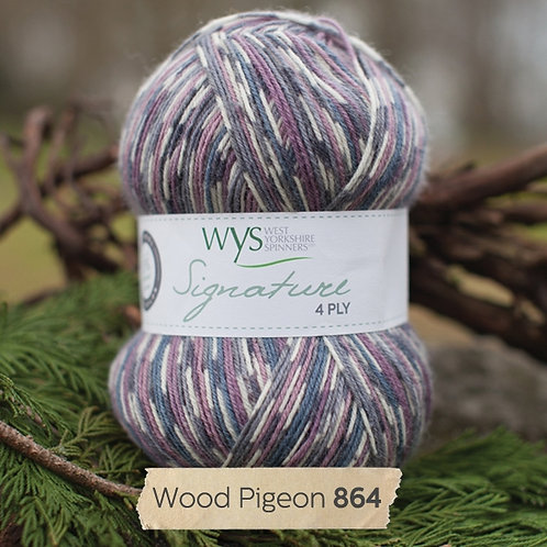 WYS 4 Ply襪線_Wood Pigeon 864