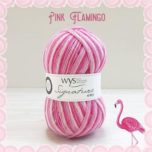 WYS 4 Ply襪線_Pink Flamingo 845