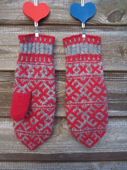 J&S Finnish Midwinter Mittens 紙本織圖