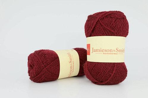 英國毛線J&S Shetland Heritage_Berry Wine(酒紅)