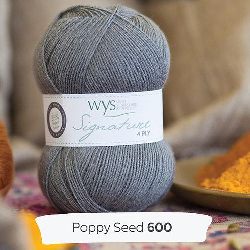 WYS 4 Ply襪線_Poppy Seed 600