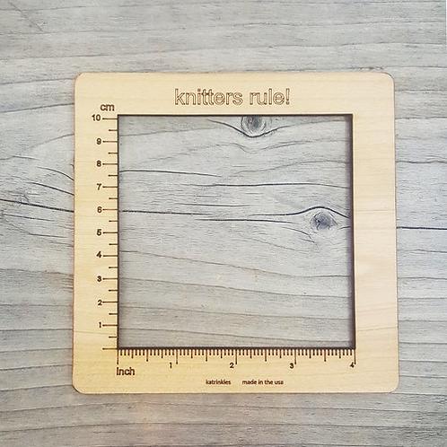 """編織織片量尺(4英吋)4"""" Gauge Swatch Ruler"""