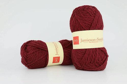 英國毛線J&S Shetland Aran Worsted_Berry Wine(酒紅)