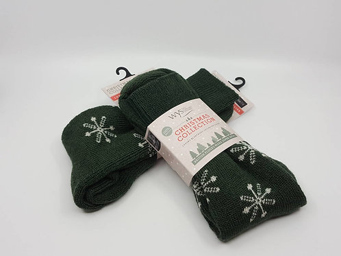 英國WYS_Wool Socks羊毛襪(綠)