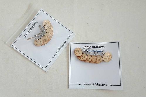 編織記號圈(貓咪圖案)Ring Stitch Markers_Cat