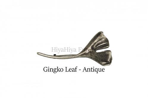 披肩別針Shawl Pins_Gingko Leaf-Antique