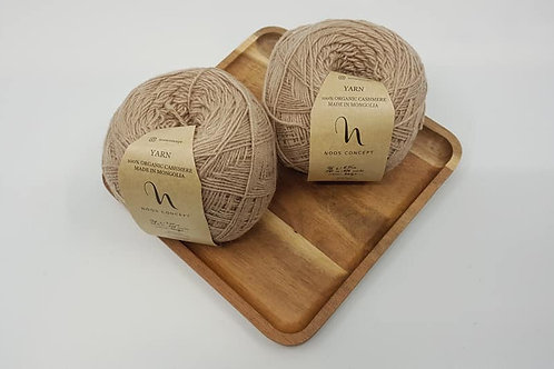 Noos Concept 100% Organic Cashmere Yarns_Beige