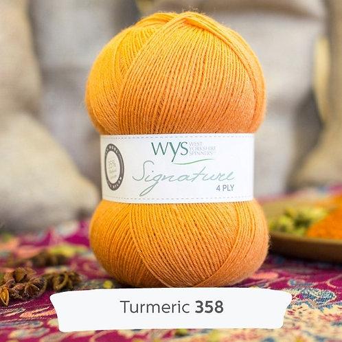 WYS 4 Ply襪線_Turmeric 358