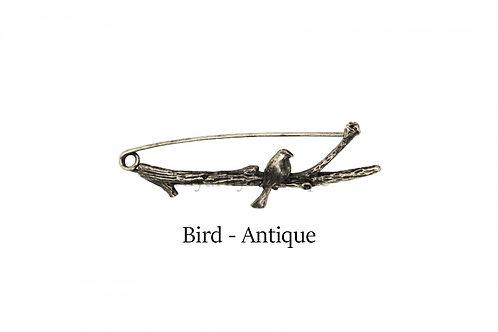 披肩別針Shawl Pins_Bird-Antique