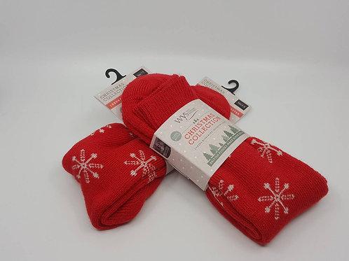 英國WYS_Wool Socks羊毛襪(紅)