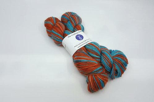 The Knitting Goddes手染線_Sock(襪線) 藍/橘