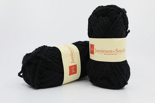 英國毛線J&S Shetland Aran Worsted_Coll Black(黑)