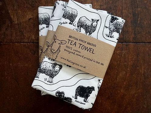 British Sheep Breeds_Tea Towel (茶巾)