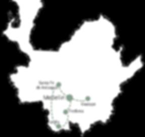 Carte Séjour Antioquia 5 jours