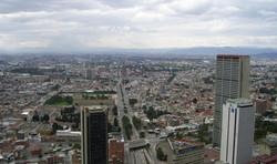 Vue panoramique à Bogota