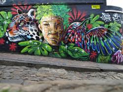 Graffiti et art dans les rues Bogota