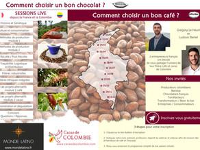 Sessions en ligne sur le café et cacao de Colombie