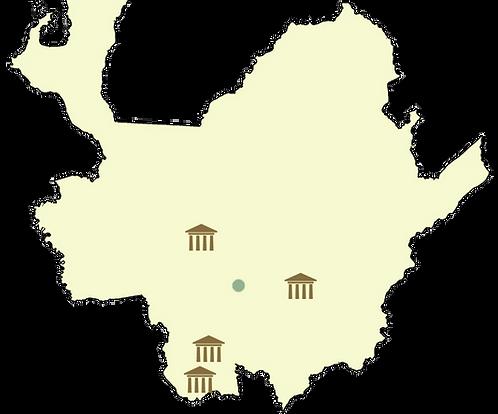 Carte des plus beaux villlages de colombie