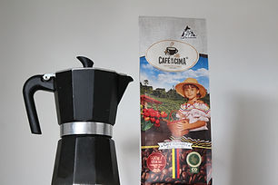 cafe de la cima de Colombie