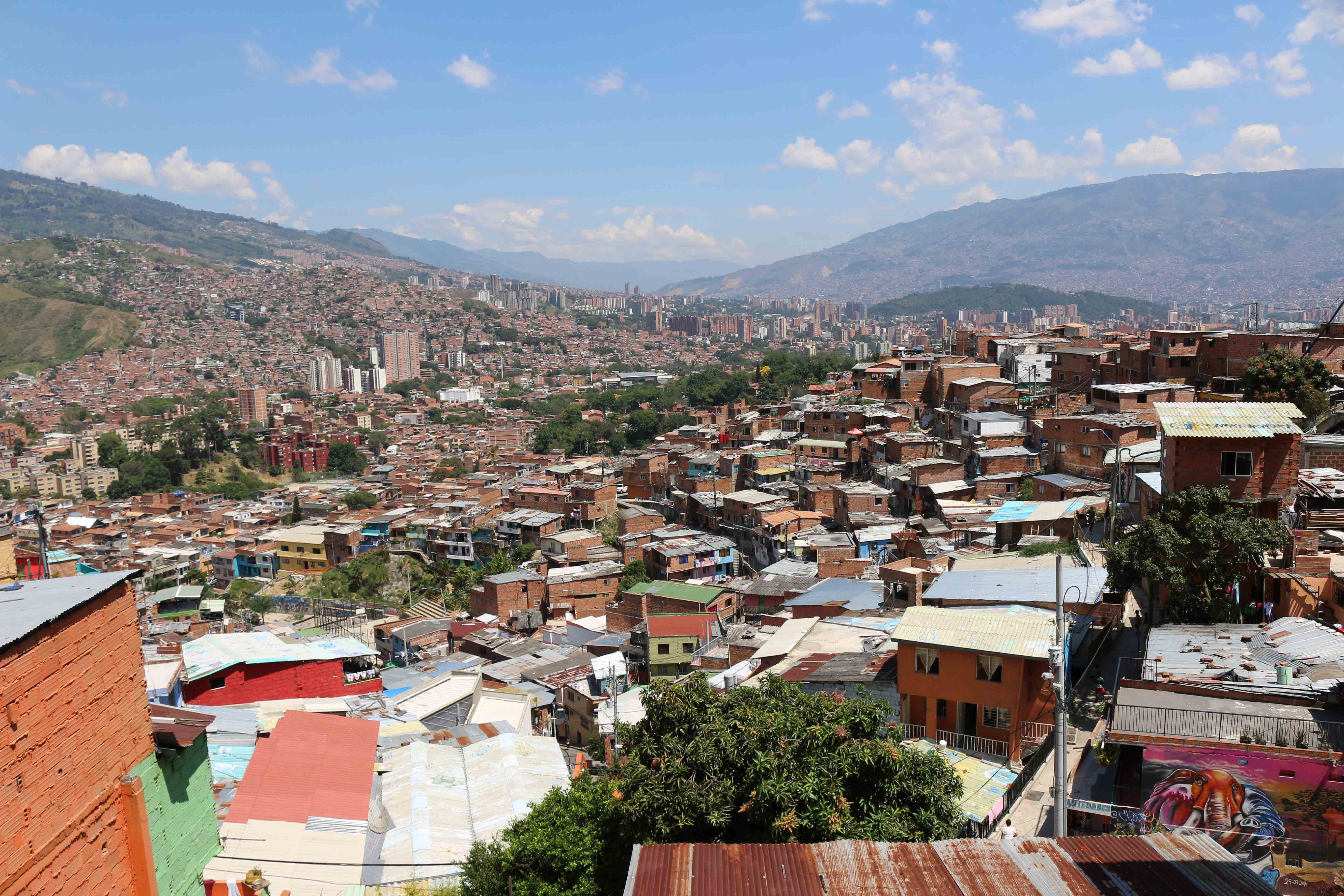 Vue panoramique de la Comuna 13