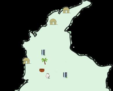 Carte de Colombie des rencontres alternatives