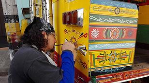 Peintre de Chivas en Colombie