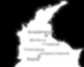 Carte de Bogota et Santander