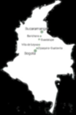 Carte de Bogota à Santander