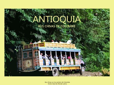 Antioquia-Bus chivas-Colombie