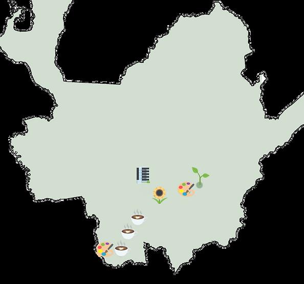 Carte des activités et rencontre proche de Medellin