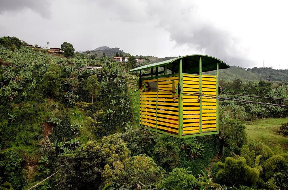 Nacelles de café á Jardin en Colombie
