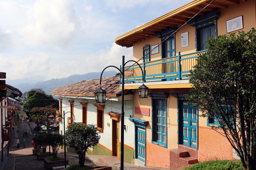 Rues de Jerico village de Colombie