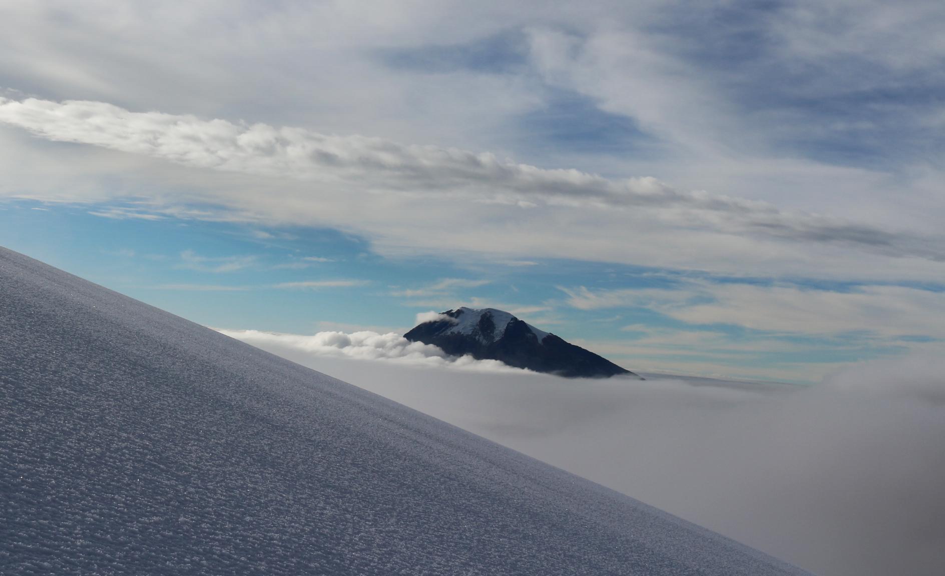 Volcan Tolima en Colombie