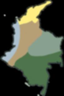 Carte Colombie par région