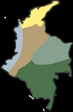 Carte de Colombie