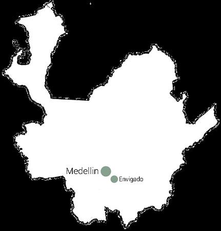 Carte d'Antioquia-Envigado