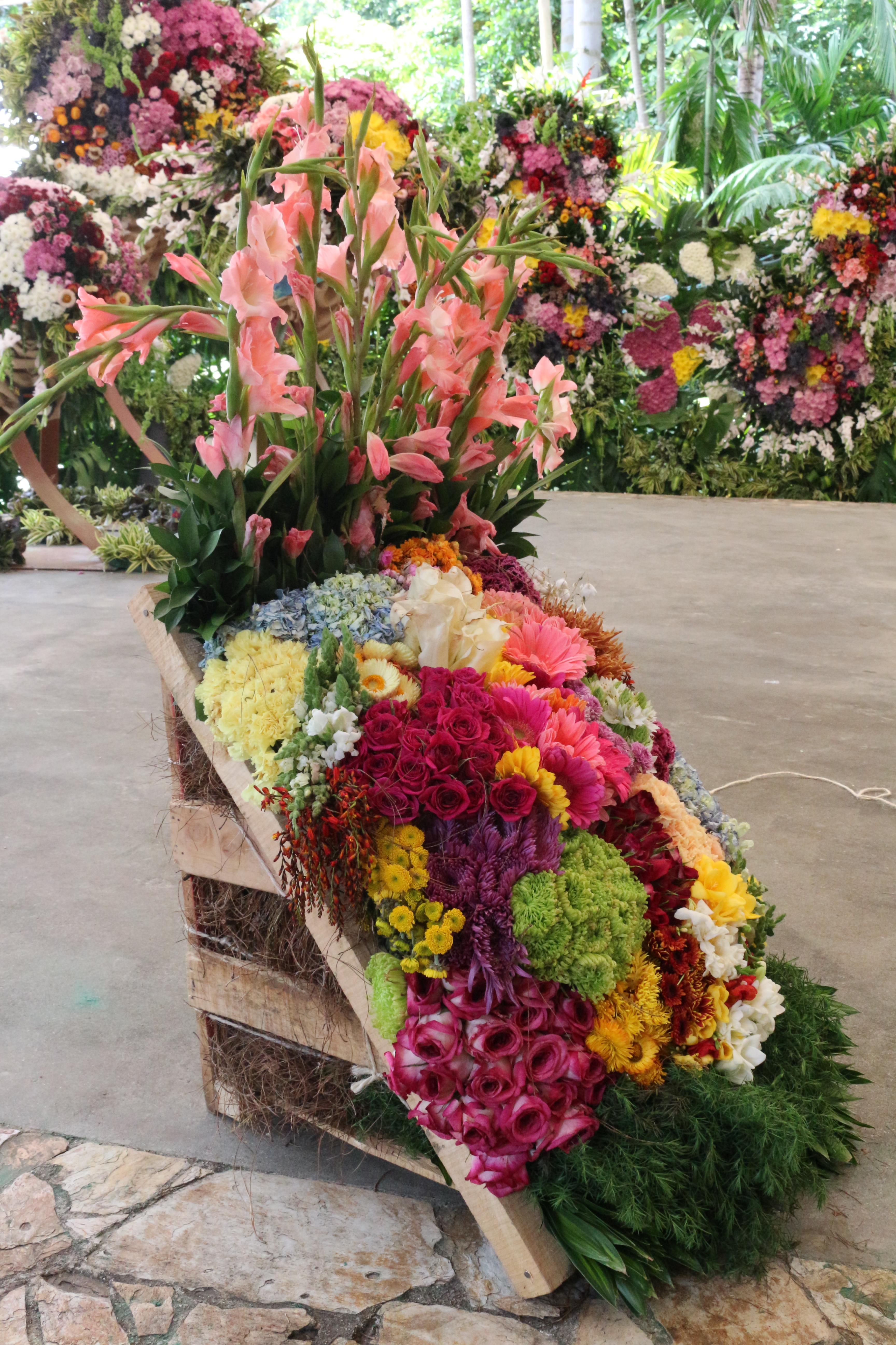 Chaise de fleurs traditionnelle