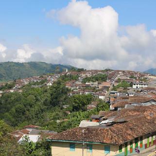 Sur les hauteurs de Salamina, Colombie