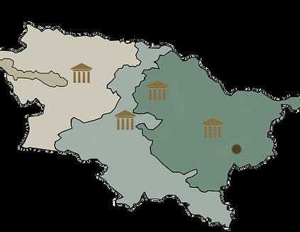 Carte les villages de Bogota et Santander