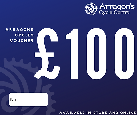 £100 Arragons Cycles Voucher (In-Store Only)