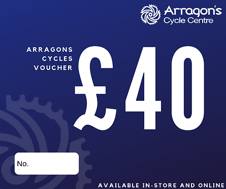 £40 Arragons Cycles Voucher (In-Store Only)