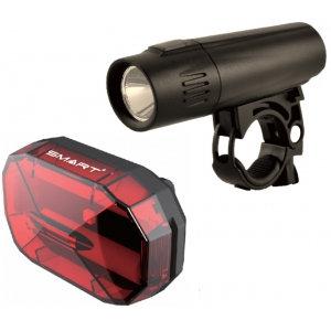 Smart Nine 80 Front Light (80 Lumens 20 LUX) / Diamond - 3 LED Rear Twinset