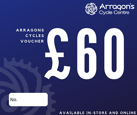£60 Arragons Cycles Voucher (In-Store Only)